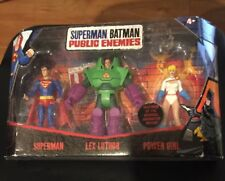 NEW Superman Batman PUBLIC ENEMIES 3-PACK - POWER GIRL Lex Luther SUPERMAN