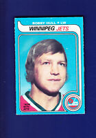 Bobby Hull HOF 1979-80 O-PEE-CHEE OPC Hockey #185 (VGEX+) Winnipeg Jets