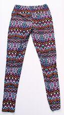 LuLaRoe Zigzag Pattern Womens Leggings Yoga Stretch Pants One Size Multicolor