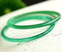 Vintage Chinese Natural Icy Green Jadeite Jade A Grade Bangle Bracelet 54mm 1pcs