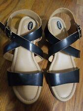Dr. Scholl's Shoes Women's Calling Wedge Sandal, Black, 8 M US