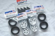 TAMIYA 1/10 RC CAR TIRE(50419)+WHEEL(50672)+STD. INNER, Radial Tire set