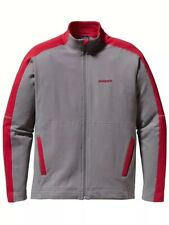 Patagonia Men's Small Long Draw Jacket Gray & Red Cotton - Spring 2012