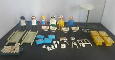 Vintage Playmobil Hospital figures lots of accessories, nurses, doctors 1970's
