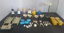 Vintage Playmobil Hospital figures lots of accessories, nurses, doctors 1970's