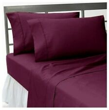 Wine Solid - 3 PCs Fitted Sheet (Extra Pocket) 1000 TC Pima Cotton
