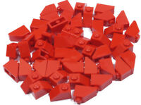 LEGO - 50 x Dachstein 45 Grad 2x1 rot / Red Slope 45 / 3040 NEUWARE (L8)
