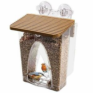 Roamwild Hanging Suction Arch Window Wild Bird Feeder Clear PolyCarb All Seed