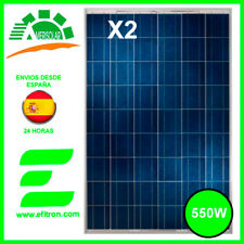 DOS Placa solar panel  fotovoltaico 550 WP (2X 275 Wp) 60 células  AMERISOLAR