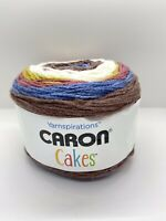 Caron Cakes Self Stripping Yarn Turkish Delight  7.1 Oz - 383 Yds  New