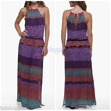 NWT S $258 VIX Paula Hermanny Acai Ceci Swimsuit Cover Up Long Sexy Maxi Dress
