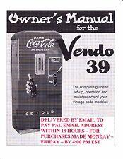 Vendo Service Manual - Model V-39 (23 Pages) .PDF Delivered by Email