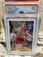 2003-04 Topps Collection #221 LeBron James Cavaliers RC Rookie PSA 9 MINT🔥🔥