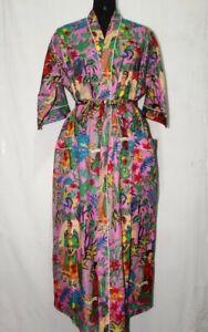 FRIDA KAHLO Kimono Cotton Shower Robe Woman Dress Plus Size Beach Cover Up