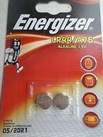 Pile Energizer ALKALINE 1,5V  LR44/A76 montre calculatrice   lot 2pcs