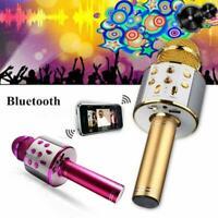 Wireless Bluetooth Microphone USB Handheld KTV Player Karaoke Speaker MIC V8V3