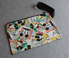 Mickey Mouse News Clutch Make Up Bag Purse