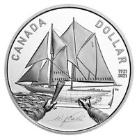 🇨🇦 Canada Proof Silver Dollar $1 Coin 100th Anniversary Bluenose Schooner 2021