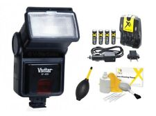 Digital Slave Flash + Batteries + Charger for Canon EOS T5i T4i T3i T2i T1i 550D