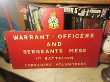 Wooden Military Camp Sign