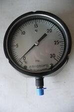 "New Ashcroft 4.5"" Pressure Gauge, Model 451220S-02L. 0 to 30 psi, 1/4""NPT"