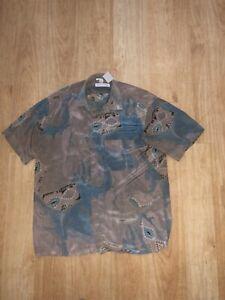 Vintage CHRISTIAN DIOR Silk Shirt Large Mens Size 39/40 VGC