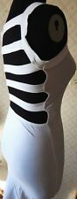 Dress White Bodycon ASOS Cut Out Midi Summer Stretch Petite size 4 Petite New