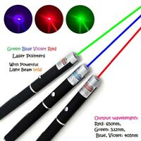 Green Red Blue Dot Laser Lazer Light Beam Pointer Pen Toy Powerful 650/532nm 5mW
