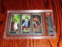 2003-04 Topps Rookie Matrix LeBron James/Anthony/Wade Trio RC BGS 9-9-9-9.5