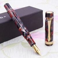 LIY Marble Resin Acrylic Fountain Pen Schmidt Nib Converter F Gift Box-Weiying