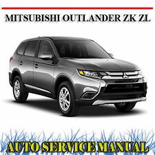 MITSUBISHI OUTLANDER ZK ZL 2015-2018 WORKSHOP SERVICE REPAIR MANUAL ~ DVD