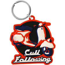 Vespa Scooter Keyring Cult Following  - Mod Key chain Cool Retro Gift PVC Rubber