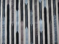 "SANDERSON CURTAIN/UPHOLSTERY FABRIC ""Kandinsky"" 85 CM BLACK/SILVER CUT VELVET"