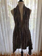 CANNISSE Women's Multicolor Wool Blend Asymmetric Cable-Knit Sweater Vest Sz 0/3