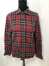 TALBOT'S Women's Vtg Flannel Shirt Size 8