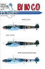 EagleCals Decals 1/72 MESSERSCHMITT Bf-110C Bf-110D Part 2