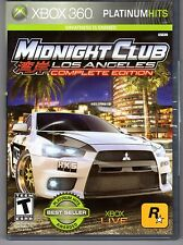 Xbox 360 Platinum Hits Midnight Club Los Angeles Complete Edition