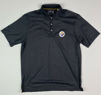 Tommy Bahama Pittsburgh Steelers Mens Size L Polo Shirt Gray NFL