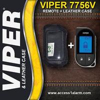 Viper 7856V 2-Way Remote and Leather Case Combo for Systems 5806V 5606V 4806V 4606V 3806V 3606V