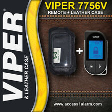 Viper 7756V 2-Way 1-Mile LCD Remote Control AND Leather Case For The Viper 5706V