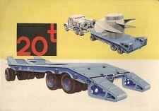 Cullmayer 20 Tons Trailer 1963 UK Market Leaflet Sales Brochure