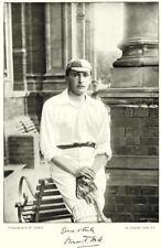 SOMT CRICKET. VT HILL- all- round Cricketer Winchester College Oxford Uni 1896