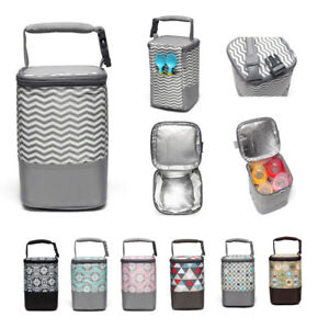 Baby Food Bottle Warmer Bag Insulated Bag Cool Bag With Stroller Hand Strap-3688