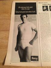 160f6e5f2b1 Vintage 1972 Magazine Print Ad - DERBY MENS UNDERWEAR