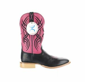 Twisted X Womens Hooey Neon Pink Black/Neon Pink Cowboy, Western Boots Size 8.5