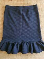 NWOT Size Medium Anthropologie Basel Flounce Black Skirt