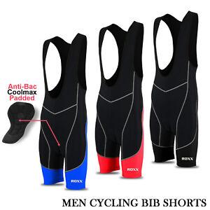 Mens Cycling Bib Shorts Coolmax Padded Outdoor Bike Pants Tights Padded ROXX