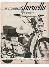 Pubblicità 1972 MOTO MOTOR GUZZI STORNELLO 125 SCRAMBLER old advertising werbung