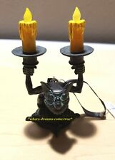 Disney Parks Haunted Mansion Light Up Candlestick Gargoyle Ornament New w/ Tags!