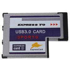 3 Port USB 3.0 Express Card 54mm PCMCIA Express Card for Laptop NEW T7W9 U8